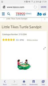Littletikes turtle sandpit £21.55 at tesco direct with free click and collect