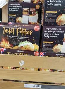 Box of Jacket Potatoes, minimum 5kg, £3.50 at Tesco.