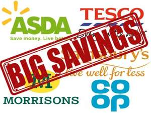 Reduction Schedule for Supermarkets ASDA, Tesco, Morrisons, Sainsbury's & CO-OP (Save up to 75% off)
