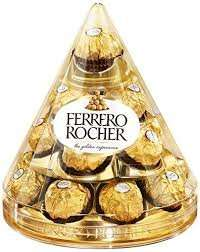 Ferrero Rocher Cone (17 Pieces = 212.5g) - Was £5 Now 3 for £10 @ Asda