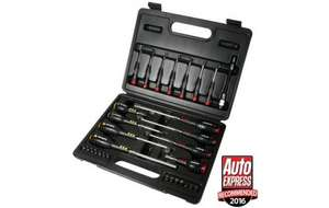 Halfords Advanced Screwdrivers, Precision Screwdrivers, Screwbit Adaptor & Bit Set in carry case £19.99 (reduced from £39.99 according to SEL in store) with free click & collect @ Halfords
