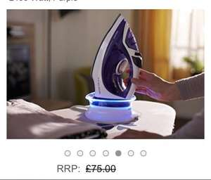 £39.99 Philips GC2086/30 EasySpeed Plus Cordless Steam Iron with Compact Smart Charging Base, 2400 Watt, Purple @ Amazon