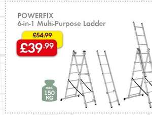 POWERFIX 6-in-1 Multi-Purpose Ladder £39.99 @ Lidl from 10th November