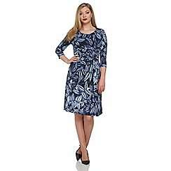Roman Originals - Blue side drape dress (60514_FFN0039256) £20 WAS £45 @ Debenhams