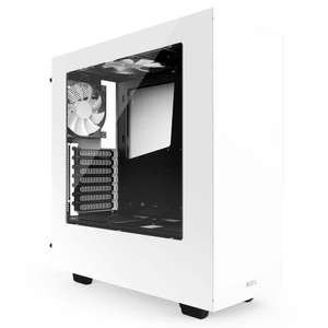 NZXT S340 White Mid Tower PC Case (White) £59.98 (Black) from Amazon