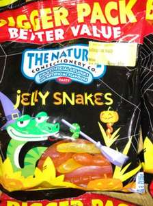 500g Jelly snakes natural confectionery 40p - Morrison's clearance