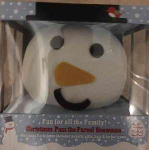 Christmas pass the parcel snowman Asda instore £4
