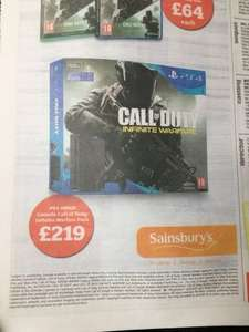 Ps4 Slim 500gb with either Infinite Warfare, FIFA 17 or Battlefield 1 £219 @ Sainsbury's