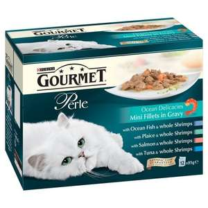 Purina Gourmet Perle Wet Cat Food Mini Fillets in Gravy, 12 x 85 g - Ocean Delicacies (Pack of 4) £12 @ Amazon