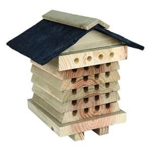 Handcrafted Wooden Bee Hive, Ladybird Feeder, Bat House £9.99 each + BOGOF + FREE Delivery @ Notcutts (+ others in op)