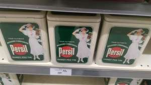 Retro looking Persil peg tin 50p  at Waitrose instore