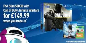 Ps4 slim deal-trade in your old 360/ps3 at game for an infinite war ps4 with battlefront and now tv pass. £149.99
