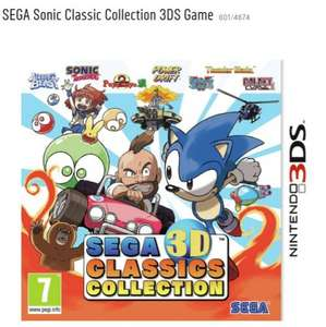3DS-Sega 3D classics collection exclusively £24.99 at argos