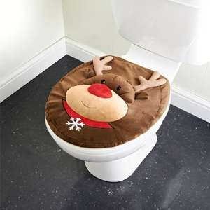 Rudolph Toilet Seat Cover £2.49 @ B&M