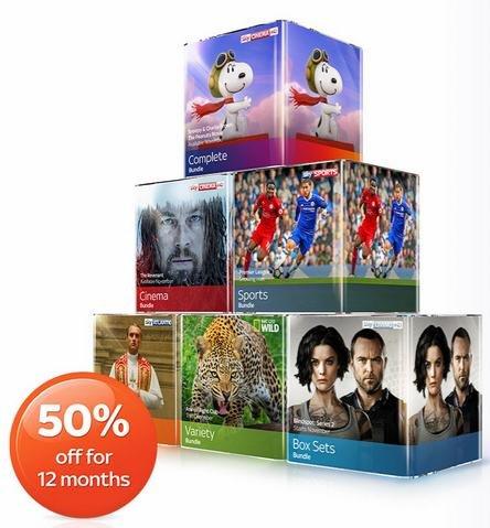Sky Q TV Bundles 50% off