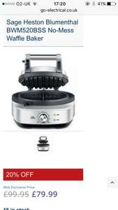 Heston Blumenthal waffle maker - £79.99 @ Go-Electrical