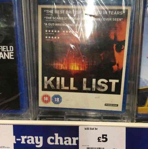 Kill List - Blu ray, £5 at Sainsbury's