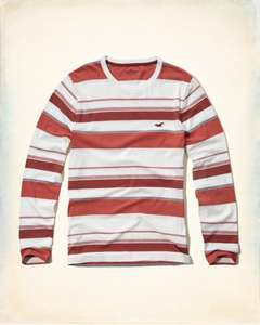 Hollister Stripe Icon T-Shirt Reduced from £19 to £6.99 including free delivery