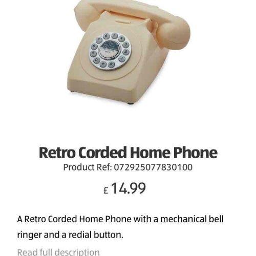 Aldi Retro Phone £14.99, Special Buy. instore
