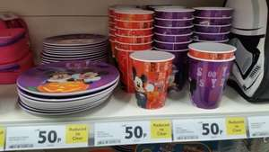Halloween Mickey Mouse plates cups bowls only 50p each@Tesco
