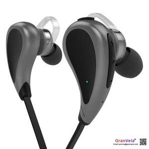 Wireless Stereo In-Ear Sport Earbuds with Microphone and Sweatproof, Bluetooth 4.0 Noise isolation Earphones - Black from GranVela Co., Ltd and Fulfilled by Amazon Add on item £2.99
