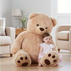Large Plush Teddy Bear - Beige Reduced to £25 at Asda direct