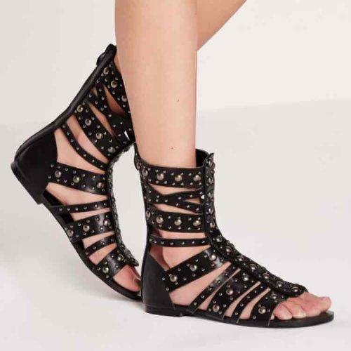 studded calf length flat sandals £5 @ missguided
