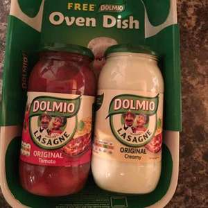 Free Oven dish with purchase of 2 Dolmio Sauces - £4 @ One Stop