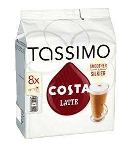 Tassimo 5 pack Costa latte £15 (Prime) / £19.75 (non Prime) @ Amazon