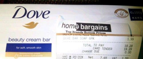 6×100g Dove bars £1.99 @ Home Bargains