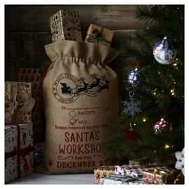Hessian Santa's Workshop Christmas Sack £5.00 @ Tesco Direct  (free c&c available)