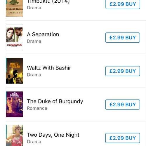 iTunes. Artificial Eye (HD) titles at £2.99