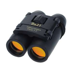 Topop 8 x 21 Compact Binoculars Folding Telescope with Clean Cloth and Carry Case £8.29 Prime Sold by GoldenSwing and Fulfilled by Amazon