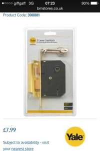 Yale security products £2.99 onwards @ B&M