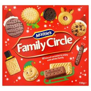 McVities Family Circle Biscuits 720g Half Price now £2.00 @ Morrisons .................. Also at Tesco  28/11/2016 until 4/12/2016