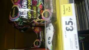 Illooms Halloween light up balloons reduced from £3.50 to 85p. Tesco leytonstone