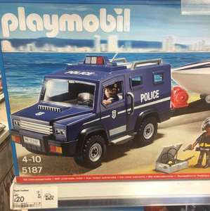 Playmobil 5187 City Action Police Truck with Speedboat £20 @ Asda