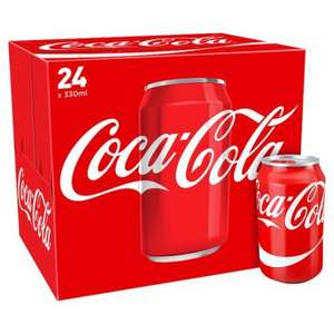 Coca Cola Original / Diet (24 x 330ml cans) ONLY £6.00 (25p a can) @ Iceland & Morrisons