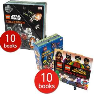 Codes Stacking - LEGO DC Comics Super Heroes 10 book Collection + Lego Batman Minifigure + LEGO Star Wars 10 book Collection + Free Gift & Triple points £25.48 Delivered @ The Book People [Lots of other books too]