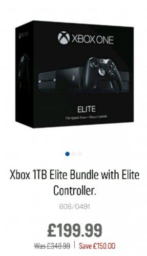 Xbox One Consoles 1/3rd off at Argos - e.g. Xbox Elite 1Tb + Elite Controller £199.99