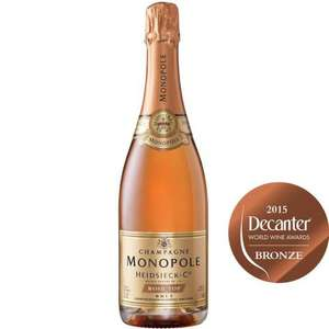 Heidsieck monopole rose top champagne was £30 now £18 plus buy 6 of ANY wine get this for £13.50 a bottle example in thread @ Sainsburys