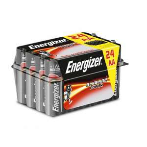 Energizer AA 24 Value Pack was £9.99 now £4.49 with code (free C+C) @ Ryman Stationery