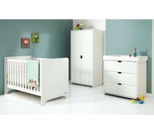 Mamas & Papas Rocco 3 Piece Furniture Set - White Argos eBay 326.94