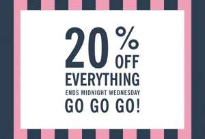 20% off everything at Jack Wills Outlet