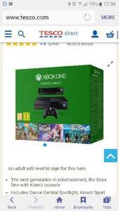 xbox one 500gb with kinect and 3 games Tesco (older style not S version)