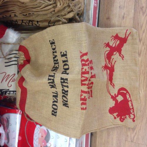 Good Quality Jute / Hessian Christmas Sack £1 at Poundland