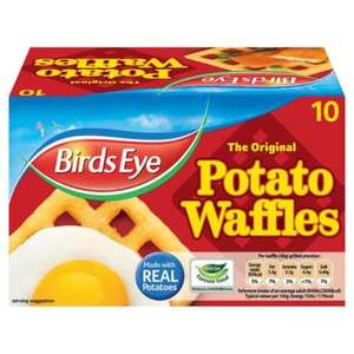 Birds Eye 10 potato waffles 75p Farmfoods