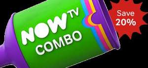 Now TV Fab Fibre 38Mb Broadband + Line Rental + Now TV Entertainment Pack. £389.88 or £300.63 (£25.05 pm) after TCB @ NOW TV