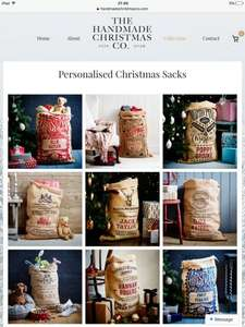 Personalised Christmas Sacks £10 with free delivery using code FACEBOOK