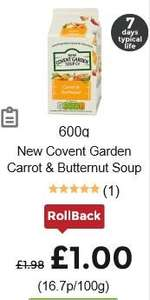 New Covent Garden Soup - £1 - ASDA Rollback Deal  - FREE with NEW £1 off downloadable voucher - 17p at TESCO -  Link in Deal Details
